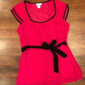 Motherhood Maternity Fashionable Pink top